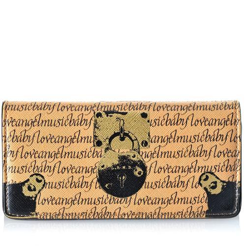 L.A.M.B. Signature Trompe LOeil Clutch Wallet