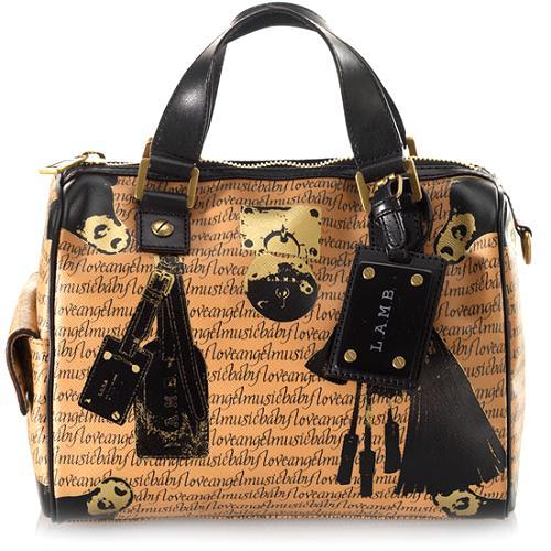 L.A.M.B. Signature Trompe LOeil Walderston Satchel Handbag
