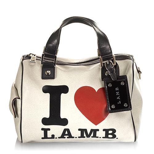 L.A.M.B. Signature Walderston Satchel Handbag