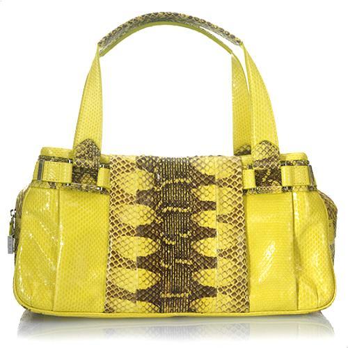 Lambertson Truex Basque Snakeskin Arianne Satchel Handbag