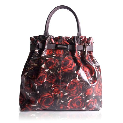 Lanvin Printed Patent Leather Kentucky Tote