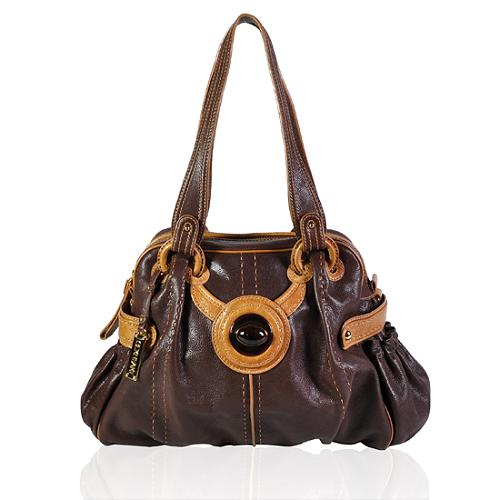 Lockheart Contrast Leather Jordin Tote