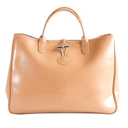 Longchamp Leather  Roseau  Tote 087fe85aca8d8