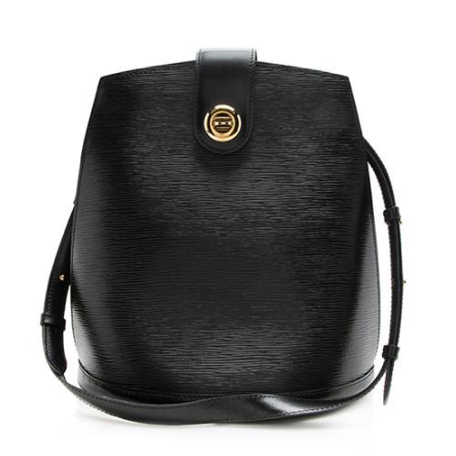 Louis Vuitton Vintage Black Epi Leather Cluny MM Shoulder Bag
