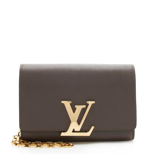 Louis Vuitton Calfskin Chain Louise Shoulder Bag