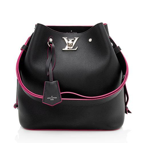 Louis Vuitton Calfskin Lockme Bucket Bag