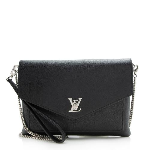 Louis Vuitton Calfskin My Lockme Pochette Chain Bag