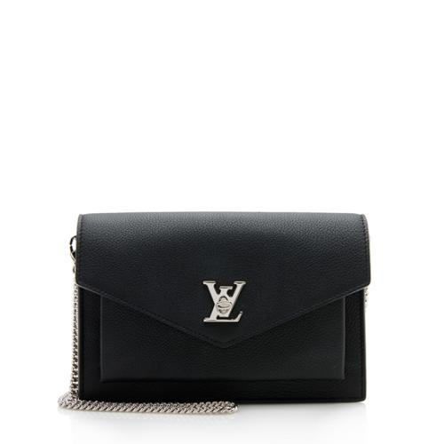 Louis Vuitton Calfskin Lockme Pochette Crossbody Bag