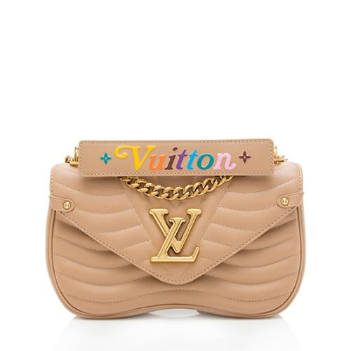 Louis Vuitton Calfskin New Wave Chain MM Shoulder Bag