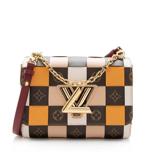 Louis Vuitton Check Monogram Twist MM Chain Shoulder Bag