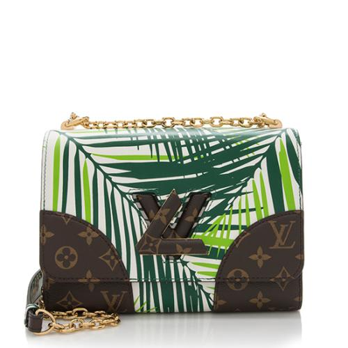 Louis Vuitton Coated Canvas Palm Twist MM Shoulder Bag