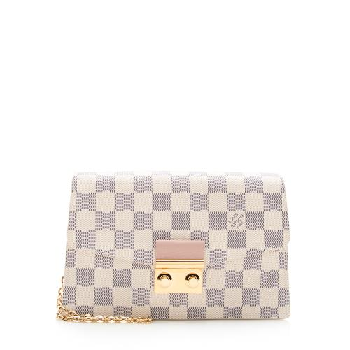 Louis Vuitton Damier Azur Croisette Chain Wallet