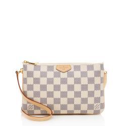 Louis Vuitton Damier Azur Double Zip Pochette