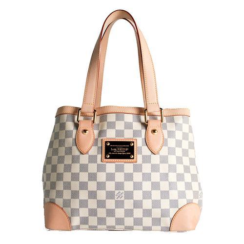 Louis Vuitton Damier Azur Hampstead PM Shoulder Handbag