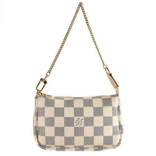 a62a6b3a80 Louis Vuitton Damier Azur Mini Pochette Accessoires Handbag