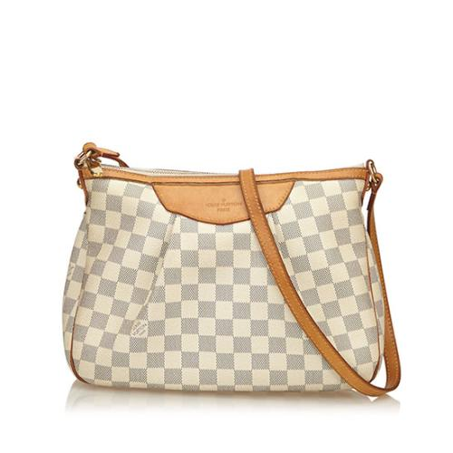 Louis Vuitton Damier Azur Siracusa PM Shoulder Bag