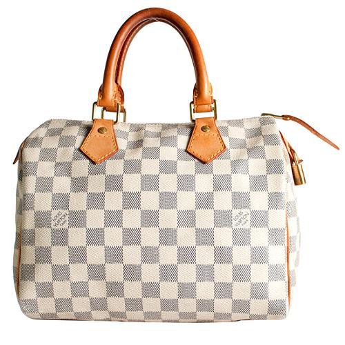 Louis Vuitton Damier Azur Speedy 25 Satchel Handbag