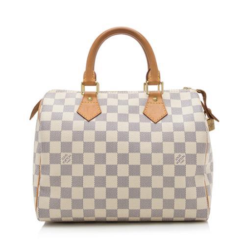 Louis Vuitton Damier Azur Speedy 25 Satchel