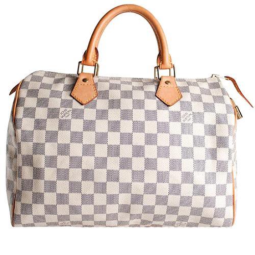 Louis Vuitton Damier Azur Speedy 30 Satchel Handbag