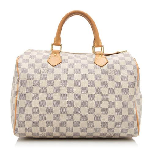 Louis Vuitton Damier Azur Speedy 30 Satchel