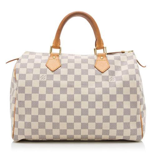 Louis Vuitton Damier Azur Speedy 30 Satchel