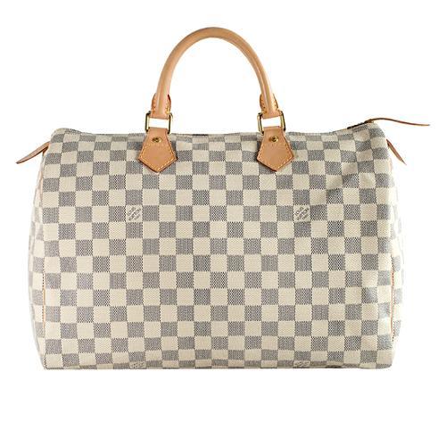 Louis Vuitton Damier Azur Speedy 35 Satchel Handbag