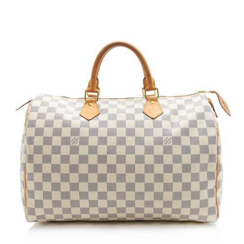 Louis Vuitton Damier Azur Speedy 35 Satchel