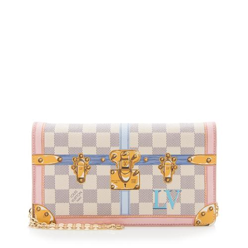 Louis Vuitton Damier Azur Summer Trunk Pochette Weekend Crossbody Bag