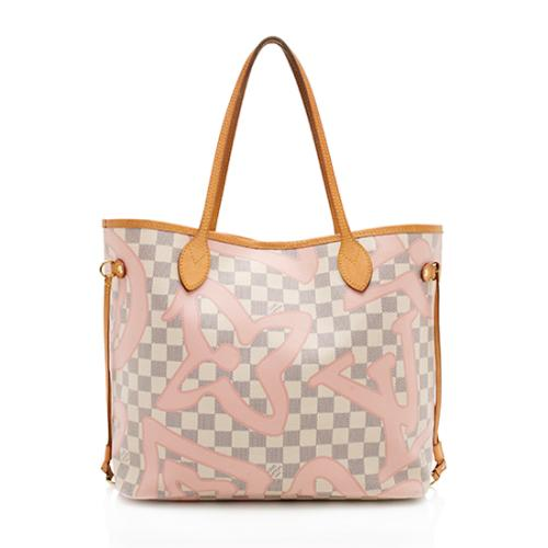 Louis Vuitton Damier Azur Tahitienne Neverfull Mm Tote