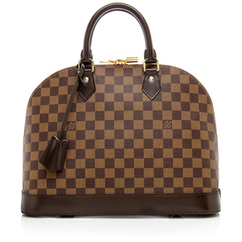 Louis Vuitton Damier Ebene Alma MM Satchel