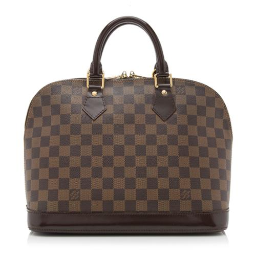Louis Vuitton Damier Ebene Alma PM Satchel
