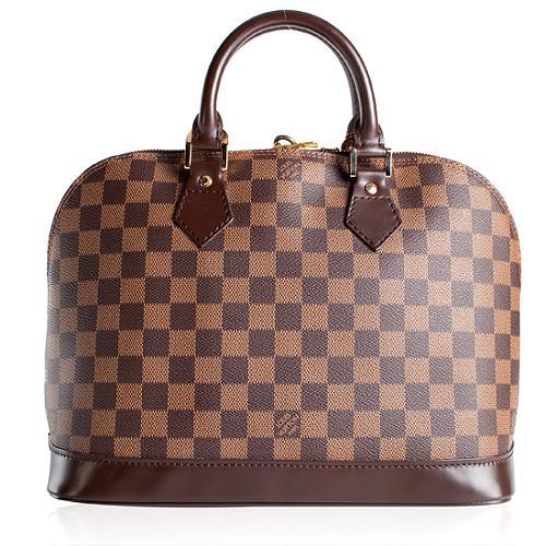 Louis Vuitton Damier Ebene Alma Satchel Handbag