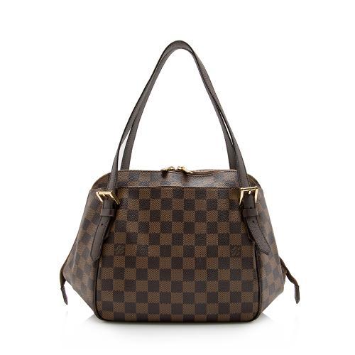 Louis Vuitton Damier Ebene Belem MM Shoulder Bag