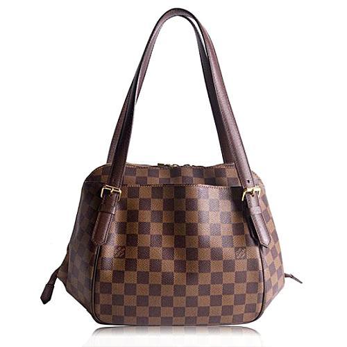 Louis Vuitton Damier Ebene Belem MM Shoulder Handbag