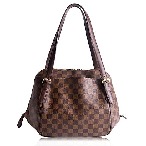 Louis Vuitton Damier Ebene Belem MM Shoulder Handbag
