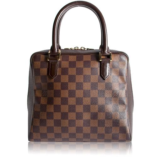 Louis Vuitton Damier Ebene Brera Satchel Handbag