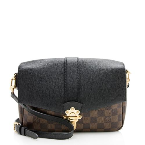 Louis Vuitton Damier Ebene Calfskin Clapton PM Shoulder Bag