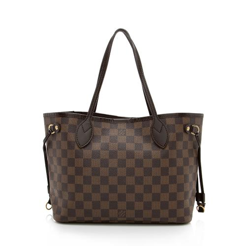 Louis Vuitton Damier Ebene Canvas Neverfull PM Tote