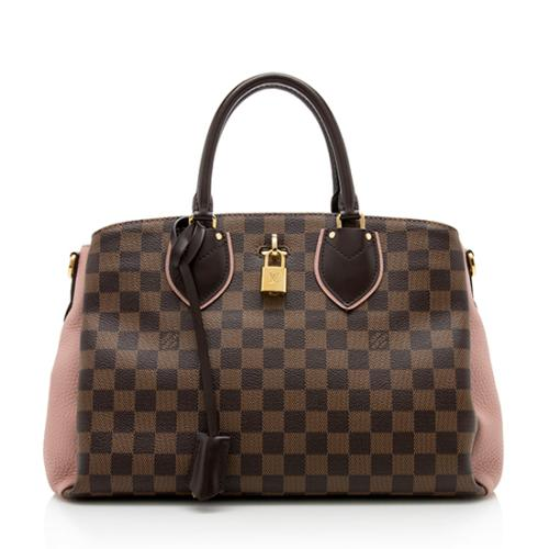 Louis Vuitton Damier Ebene Cuir Taurillon Normandy Satchel