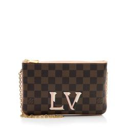 Louis Vuitton Damier Ebene Double Zip Pochette