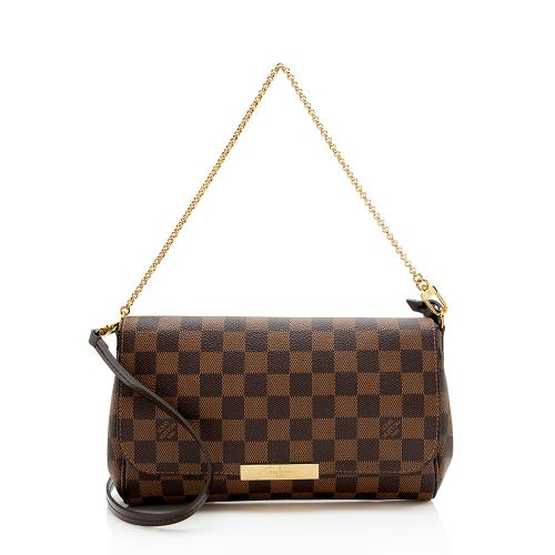Louis Vuitton Damier Ebene Favorite MM Shoulder Bag