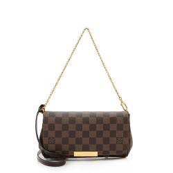 Louis Vuitton Damier Ebene Favorite PM Shoulder Bag