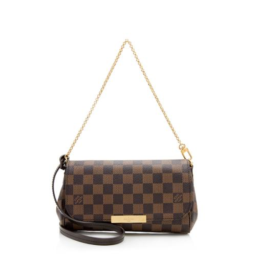 Louis Vuitton Damier Ebene Favorite PM Shoulder Bag