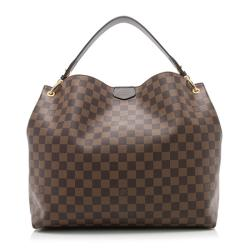 Louis Vuitton Damier Ebene Graceful MM Shoulder Bag