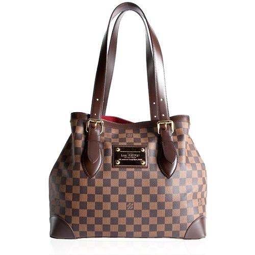 Louis Vuitton Damier Ebene Hampstead MM Shoulder Handbag