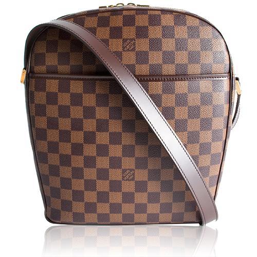 Louis Vuitton Damier Ebene Ipanema GM Shoulder Handbag