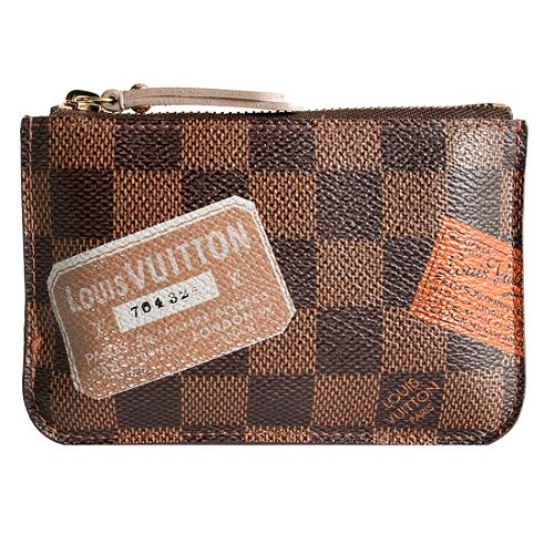 Louis Vuitton Damier Ebene Labels Cles Coin Purse