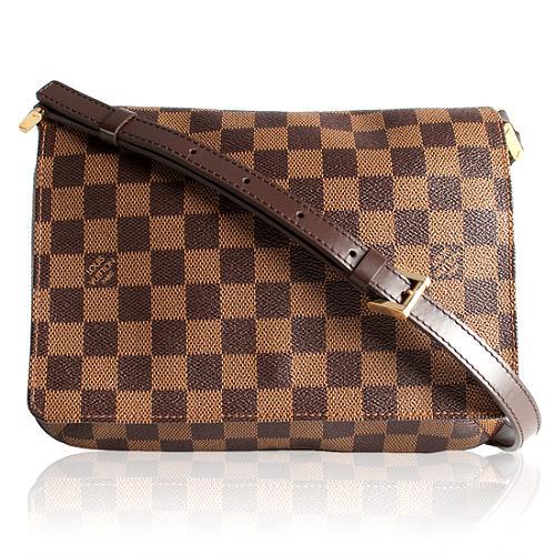 Louis Vuitton Damier Ebene Musette Tango Shoulder Handbag