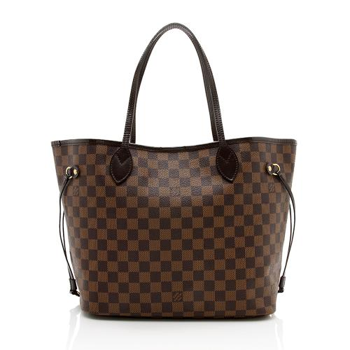 Louis Vuitton Damier Ebene Neverfull MM Tote