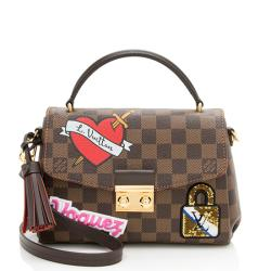 Louis Vuitton Damier Ebene Patches Croisette Shoulder Bag